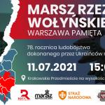 Marsz Rzezi Wołyńskiej z okazji 78 rocznicy Ludobójstwa Polaków na Kresach